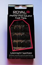 Royal Petite Pre-Glued Self Stick Glitter False Nails Midnight Spritzer