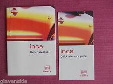 SEAT INCA VAN AND SEAT INCA COMBI OWNERS MANUAL - HANDBOOK - GUIDE (ACQ 69-66)