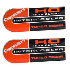 Dodge Ram Cummins High Output Intercooled Turbo Diesel Metal Emblems - Pair