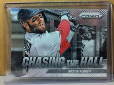 2014 PANINI PRIZM CHASING THE HALL #4 DUSTIN PEDROIA BOSTON RED SOX