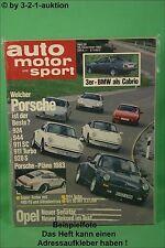AMS Auto Motor Sport 26/82 Opel Monza Senator Visa GT BMW Baur Porsche