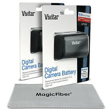 2 Pack Vivitar LP-E6 Battery for Canon EOS 5D Mark III II 6D 60D 7D Mark II 70D