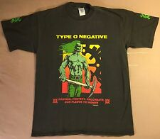 Type O Negative 1995 T-Shirt M/L Pledge to Women Vtg tour carnivore peter steele