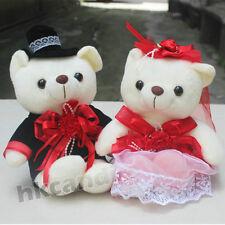 Red flower wedding bear Teddy Bear stuffed animals wedding gifts 25 CM chinese