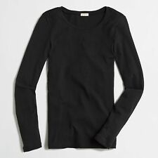 J Crew Factory Tee - XS - NWT - Solid Dark Navy Blue Long Sleeve Knit Top
