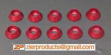M8 *RED Anodized* Aluminum Finishing Washer Qty 10 FLAT BOTTOM SCHS CNC Billet