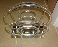Vintage Dorothy Thorpe Lucite Magazine Rack Holder