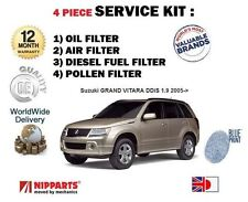 FOR SUZUKI GRAND VITARA 1.9TD DDiS 2005-  OIL AIR FUEL POLLEN FILTER SERVICE KIT