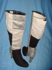 Women's Cato Black & Gray Patchwork High Heel Knee Boots  Size-12  New