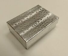 "Cotton Filled #3 Silver Foil Boxes 32S 3 1/4"" x 2 1/4"" x 1"" Box of 100"