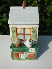 1995 Fitz & Floyd Omnibus Garden Shed Cookie Jar Canister