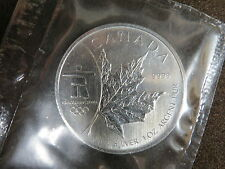 1oz OLYMPIC SILVER MAPLE LEAF COIN INUKSHUK 2008 MYLAR POUCH SEALED