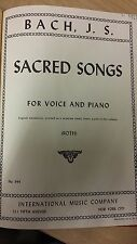 JS Bach: Sacred Songs For Voice And Piano: Music Score (N6)