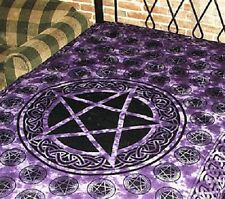 """72"""" x 108"""" Wall Hanging Tapestry - Cotton Bed throw - Pentacle- Free Shipping!!"""