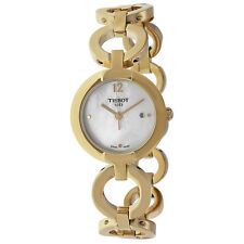 Tissot Pinky Mother of Pearl Dial Gold-plated Ladies Watch T0842103311700
