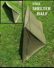 Military Surplus 1/2 Shelter Complete w/Poles, Stakes, and Rope