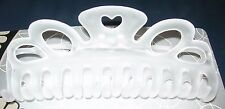 "Large Heart Hair Barrette Comb Clip Frost Color 5"" Long NIP Jumbo Claw Tie Hold"