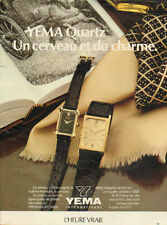 Publicité Advertising 1970  --  montre YEMA  quartz