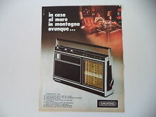advertising Pubblicità 1974 RADIO GRUNDIG CONCERT BOY 1100