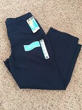 WOMENS IMPERIAL BLUE KHAKIS RELAXED FIT STRAIGHT LEG CHINOS PANTS SZ 16
