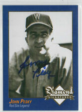 Johnny Pesky 2009 Diamond Signatures signed autographed card Boston Red Sox