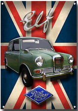RILEY ELF METAL SIGN.HIGH GLOSS FINISH.VINTAGE/CLASSIC BRITISH CARS.