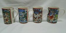 12 Days Of Christmas Coffee Mugs Set of 4 Dunoon Stoneware Scotland Anne Searle