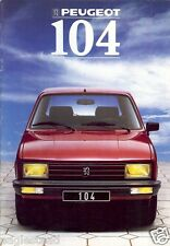 Auto Brochure - Peugeot - 104 - 1988 - Francais French language (AB436)