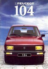 Auto Brochure - Peugeot - 104 - 1988 - Francais French language (AB436)