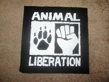 Animal Liberation Front Back Patch - Punk - Crust - Hardcore - ALF.