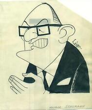 CARICATURE ORIGINALE de Maurice SCHUMANN par LEBON N°2