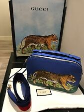 RARE! SOLD OUT! Authentic Gucci Tiger Print Leather Top Handle Bag - NEW