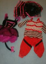 Lot of Monster High Dress Up Costume size medium 7-8 Girls& Extras