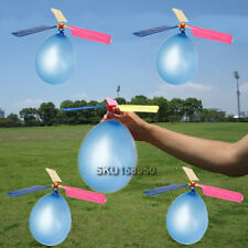 10x Traditional Classic Balloon Helicopter Kids Child Children Play Flying Toy