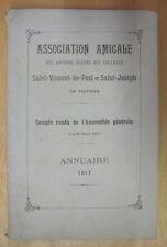 POITOU ST VINCENT DE PAUL & ST JOSEPH DE POITIERS ANNUAIRE 1917