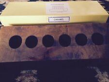 Test Tube holder Rack Hand Made Of Natural Caramel Colored Stone Holds 6 Tubes