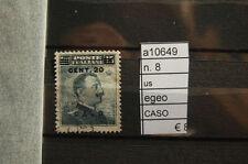 FRANCOBOLLI ITALIA COLONIE EGEO CASO USATI N°8 (A10649)