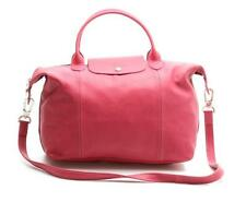 Longchamp Rose Pink Leather Le Pliage Cuir Convertible Tote