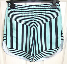 CLOVER CANYON($200RRP)Ladies Shorts Size XS -Mint Green with Black Stripes -BNWT