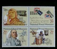 1993 29c National Postal Museum, Block of 4 Scott 2779-82 Mint F/VF NH