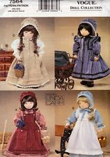 """Vogue 7564 Pattern 18"""" Doll Early American Pioneer Girl Outfits by Linda Carr"""