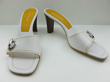 Enzo Angiolini White Leather High Heel Pumps Mules Sandals 11M NEW MSRP $89