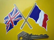 Traversé français tricolore & Union Jack Drapeau Autocollant Voiture 100mm entente cordiale