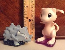 Pokémon 1st Gen #111 Rhyhorn and #151 Mew 1999 Nintendo Burger King Figures