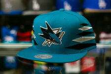 Mitchell & Ness San Jose Sharks Black and Grey Diamonds Snapback