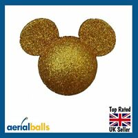 Gold Glitter Disney Mickey Mouse Car Aerial Ball Antenna Topper
