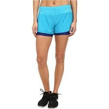 NIKE DRI FIT  2 IN 1 SHORTS SIZE MEDIUM  LAGOON BLUE PERFORATED RIVAL