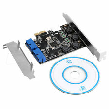 USB 3.0 2 Port 19Pin Card PCI-e to PCI Express Internal 20Pin Male Ports Adapter