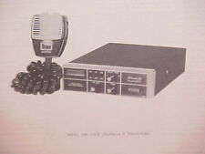 1977 SBE CB RADIO SERVICE SHOP MANUAL MODEL SBE-32CB (FORMULA D TOUCH/COM)