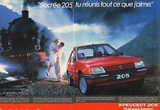 Publicité Advertising 1986  (Double page)  PEUGEOT 205 GT